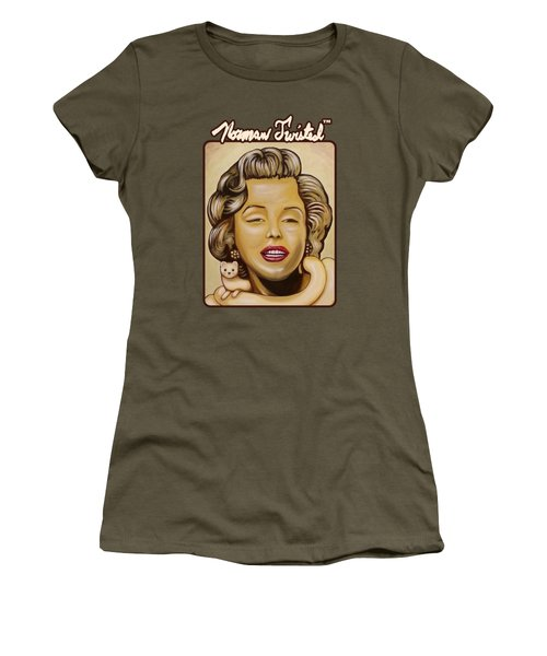Marilyn In Gold Nt Women's T-Shirt (Junior Cut) by Norman Twisted