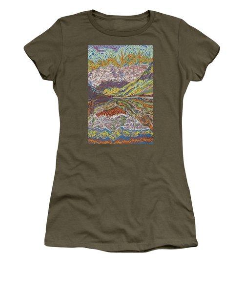 Maroon Bells Women's T-Shirt (Junior Cut) by Robert SORENSEN
