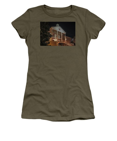 Women's T-Shirt (Junior Cut) featuring the photograph Martin Hall Night 01 by Gregory Daley  PPSA