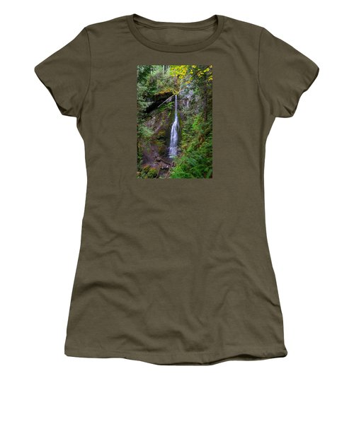 Marymere Falls Women's T-Shirt (Athletic Fit)