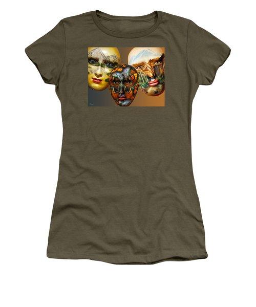 Masks On The Wall Women's T-Shirt