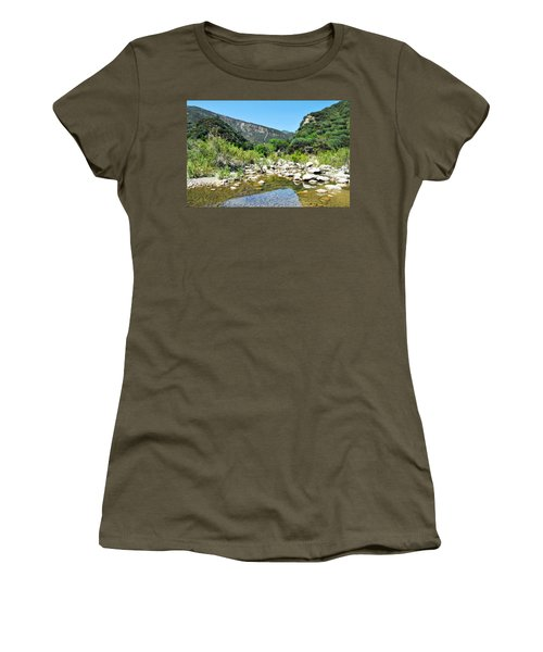 Women's T-Shirt (Junior Cut) featuring the photograph Matilija Hot Springs by Kyle Hanson