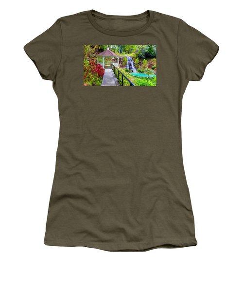 Maui Botanical Garden Women's T-Shirt (Junior Cut) by Michael Rucker