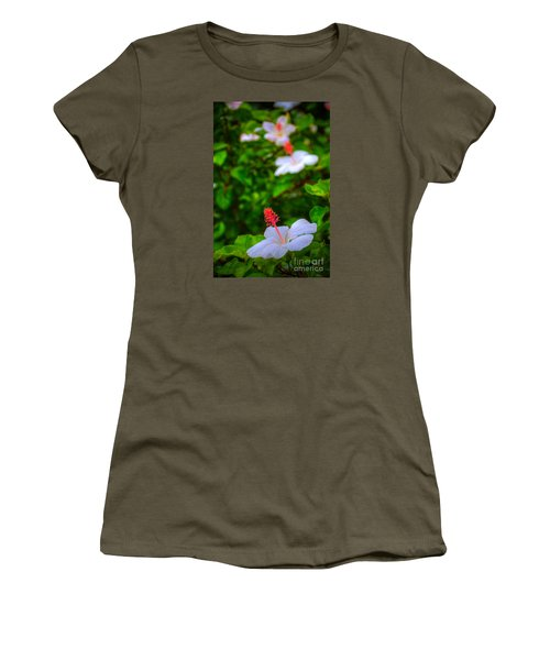Women's T-Shirt (Junior Cut) featuring the photograph Maui Hibiscus by Kelly Wade