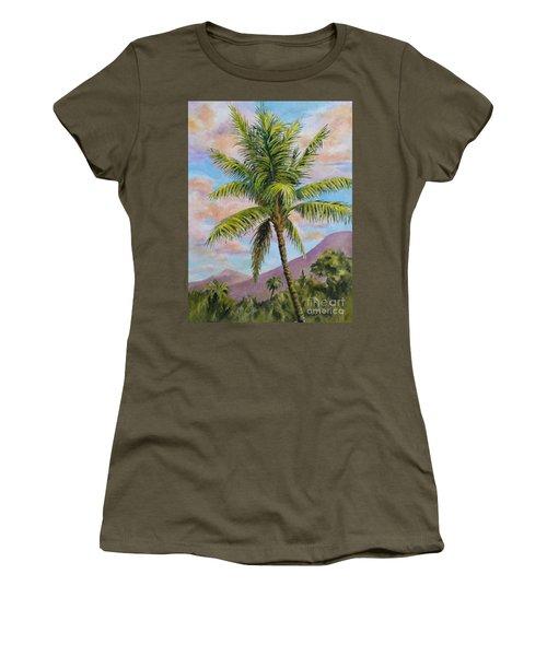 Maui Palm Women's T-Shirt (Junior Cut) by William Reed