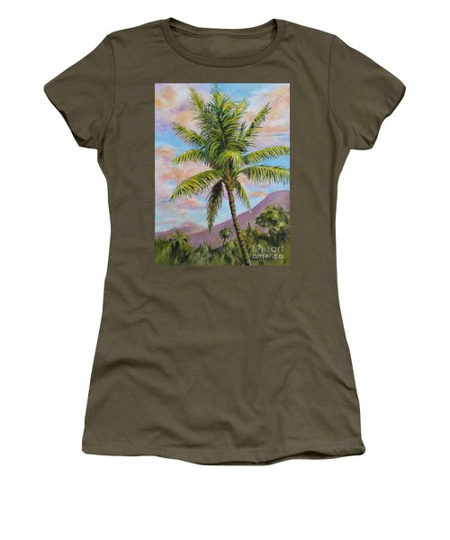 Maui Palm Women's T-Shirt (Athletic Fit)