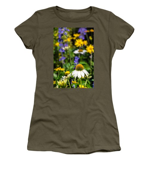 Women's T-Shirt (Athletic Fit) featuring the photograph May Flowers by Steven Sparks