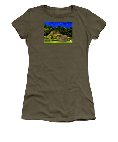 Mayan Temple Women's T-Shirt (Athletic Fit)