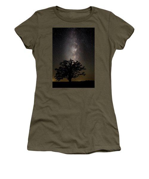 Mcbaine Bur Oak With Milky Way Women's T-Shirt