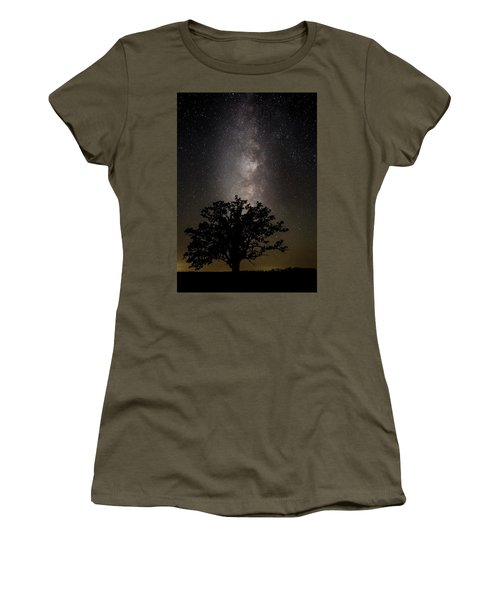 Mcbaine Bur Oak With Milky Way Women's T-Shirt