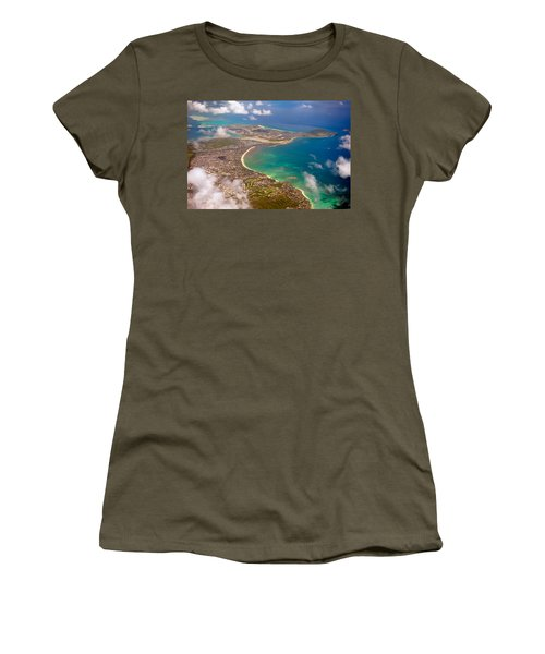 Women's T-Shirt featuring the photograph Mcbh Aerial View by Dan McManus