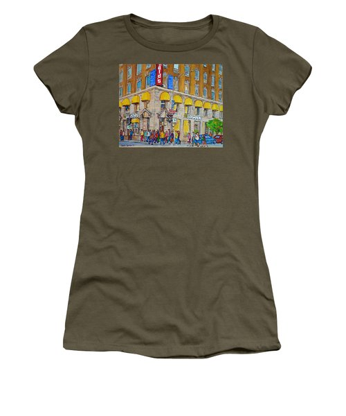 Mcdonald Restaurant Old Montreal Women's T-Shirt