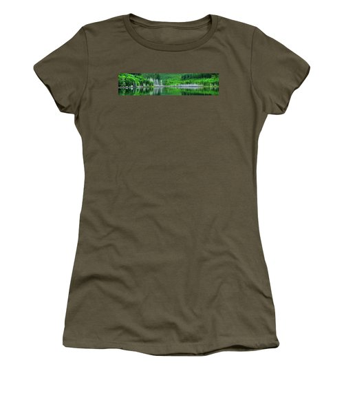 Mcguire Reservoir P Women's T-Shirt (Junior Cut) by Jerry Sodorff