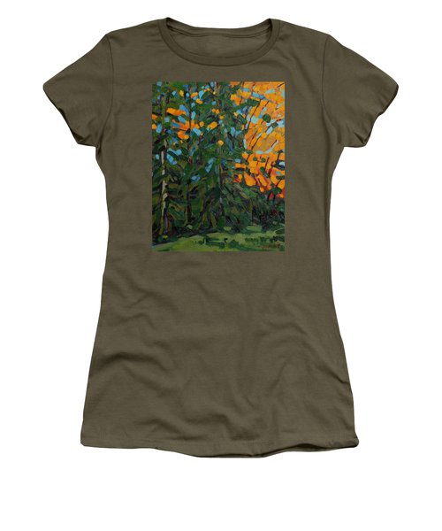 Mcmichael Forest Wall Women's T-Shirt (Junior Cut) by Phil Chadwick