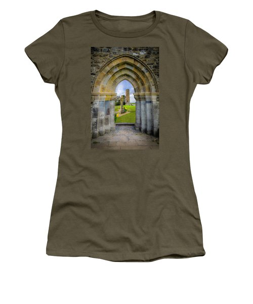 Women's T-Shirt (Athletic Fit) featuring the photograph Medieval Irish Countryside by James Truett