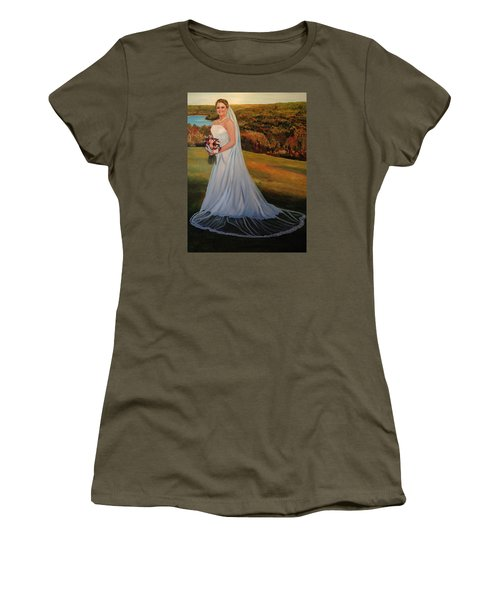 Women's T-Shirt (Junior Cut) featuring the painting Melissa by Alan Lakin