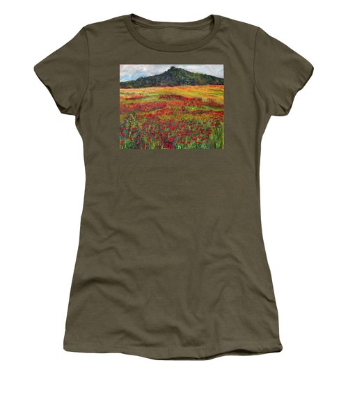 Women's T-Shirt (Junior Cut) featuring the painting Memories Of Provence by Michael Helfen