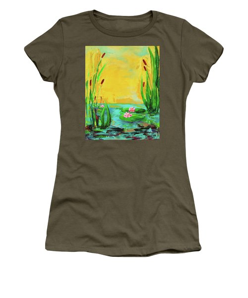 Memories Of The Lake Women's T-Shirt (Athletic Fit)
