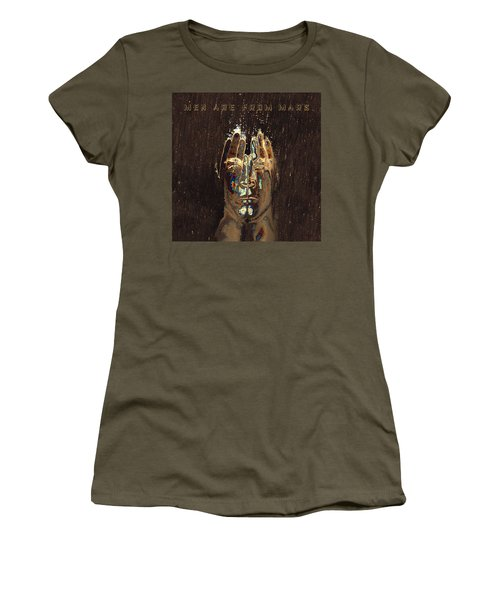 Men Are From Mars Gold Women's T-Shirt (Junior Cut) by ISAW Gallery