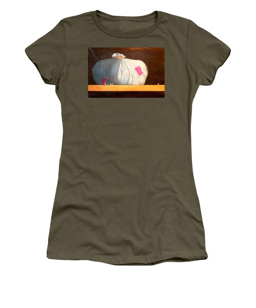 Women's T-Shirt (Junior Cut) featuring the painting Mental Escapees by A  Robert Malcom
