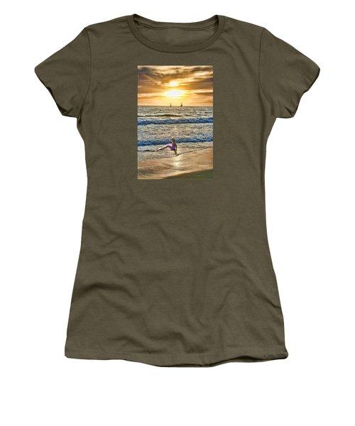 Women's T-Shirt (Junior Cut) featuring the photograph Mermaid Of Venice by Michael Cleere