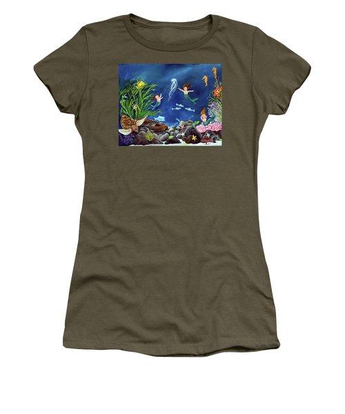 Mermaid Recess Women's T-Shirt (Junior Cut) by Carol Sweetwood