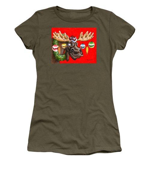 Merry Chris Moose Women's T-Shirt