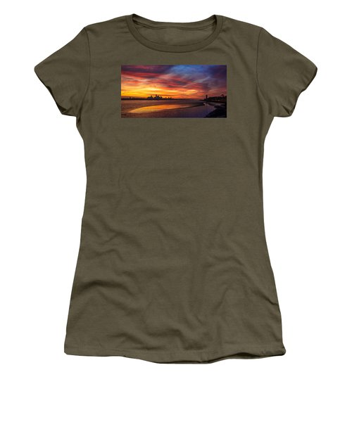 Mersey Sunrise Women's T-Shirt (Athletic Fit)
