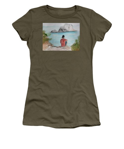 Message In A Bottle Women's T-Shirt (Athletic Fit)