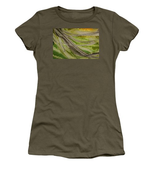 Women's T-Shirt featuring the photograph Metal Abstract Two by David Waldrop