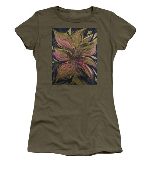 Metallic Flower Women's T-Shirt