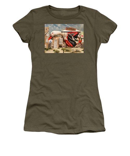 Miami Graffiti Women's T-Shirt (Junior Cut) by Jeff Burgess