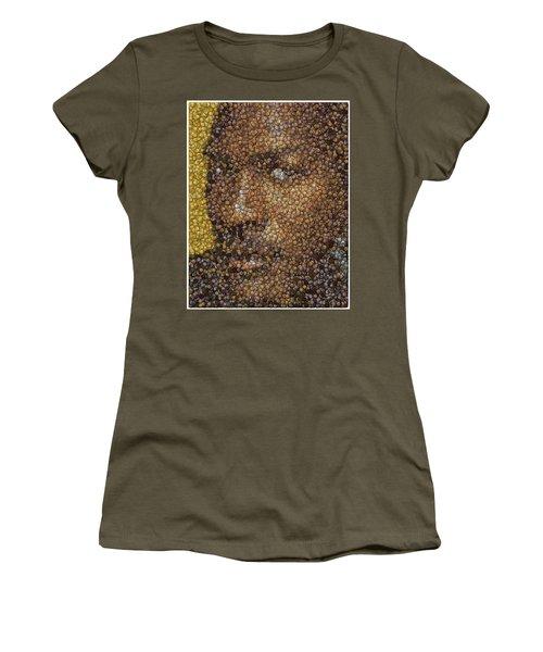 Women's T-Shirt (Junior Cut) featuring the digital art Michael Jordan Money Mosaic by Paul Van Scott