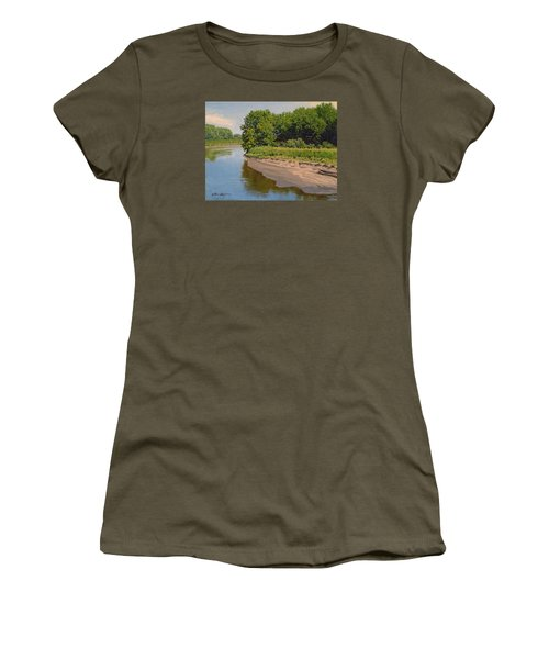 Mid Summer Prairie Stream Women's T-Shirt (Athletic Fit)