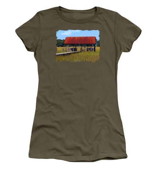 Midday Island Creek View Women's T-Shirt (Junior Cut) by Deborah Smith