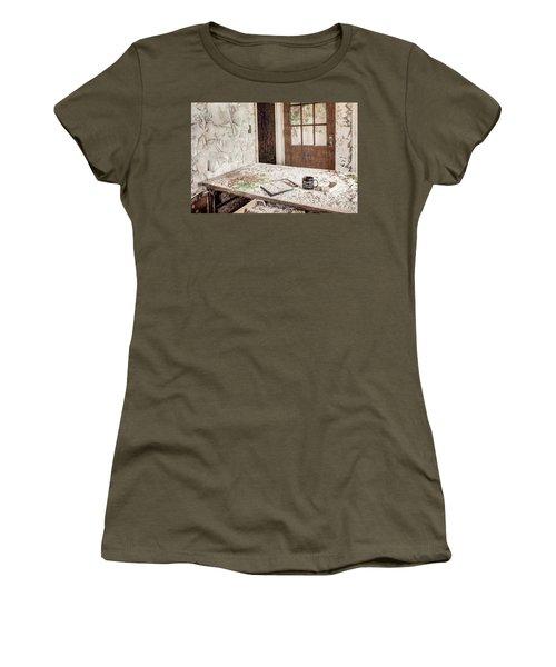 Women's T-Shirt (Junior Cut) featuring the photograph Midlife Crisis In Progress - Abandoned Asylum by Gary Heller