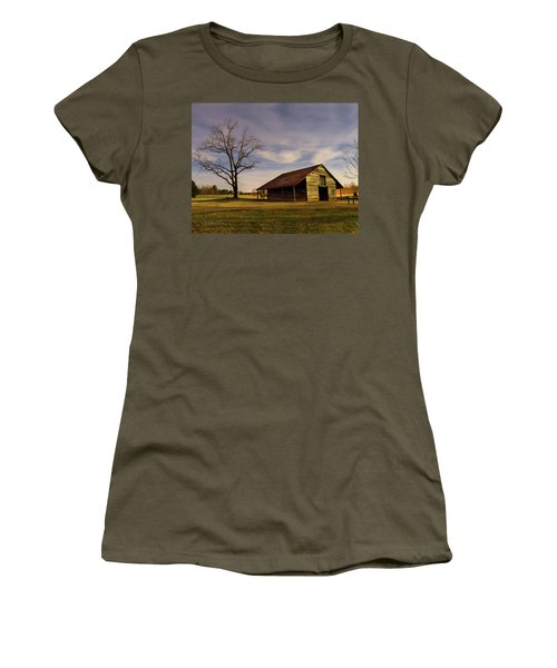Midnight At The Mule Barn Women's T-Shirt (Athletic Fit)