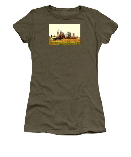 Miedzierza Church Women's T-Shirt (Junior Cut) by Henryk Gorecki