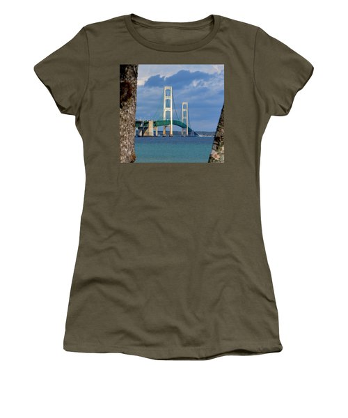 Mighty Mac Framed By Trees Women's T-Shirt (Junior Cut) by Keith Stokes