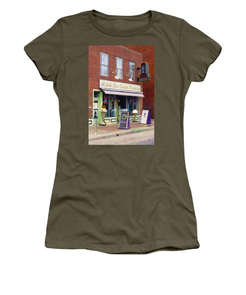 Mike's Ice Cream Fountain Women's T-Shirt (Junior Cut)