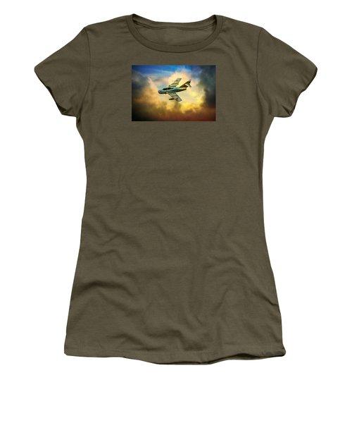 Women's T-Shirt (Junior Cut) featuring the photograph Mikoyan-gurevich Mig-15uti by Chris Lord