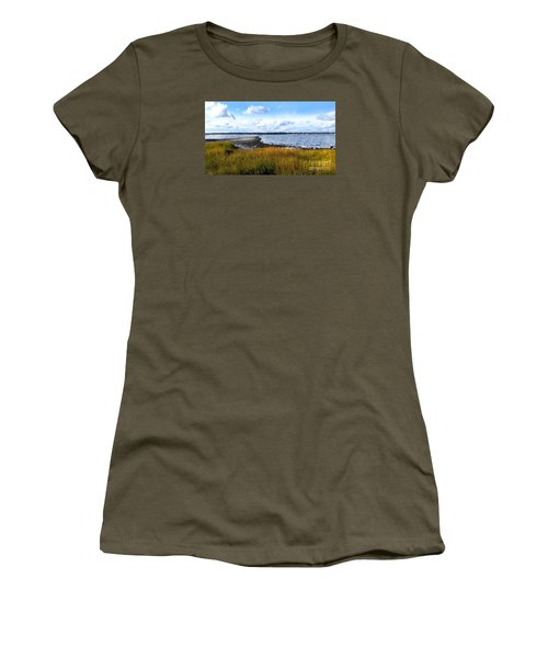 Milford Island Women's T-Shirt (Junior Cut) by Raymond Earley