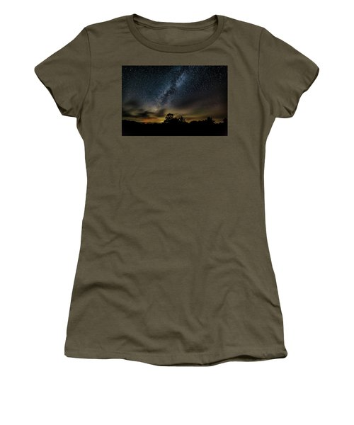 Milky Way Over The Blue Ridge Women's T-Shirt (Athletic Fit)