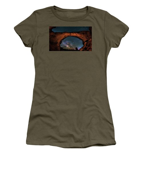Milky Way Under The Arch Women's T-Shirt