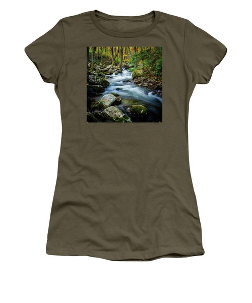 Mill Creek In Fall #3 Women's T-Shirt (Athletic Fit)