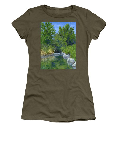 Millrace Pond Women's T-Shirt (Athletic Fit)