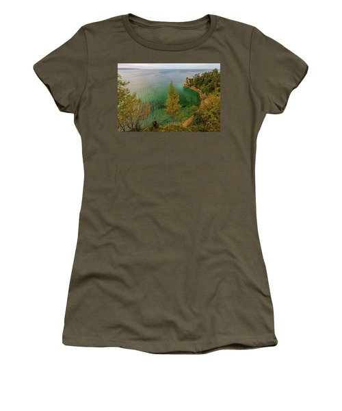 Women's T-Shirt featuring the photograph Miners Castle 2 by Heather Kenward