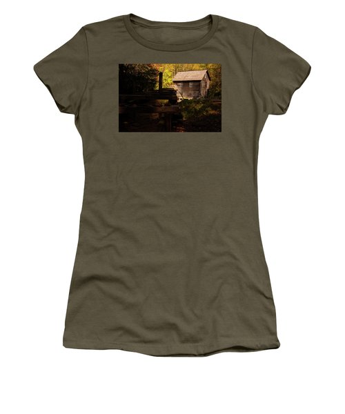 Women's T-Shirt (Athletic Fit) featuring the photograph Mingus Mill 1 by Chris Flees