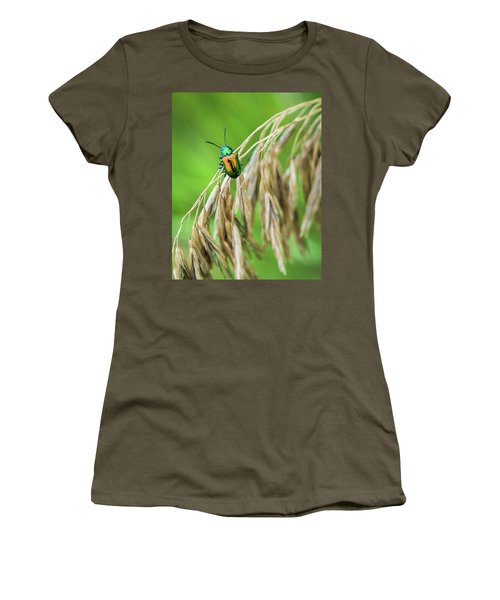 Women's T-Shirt (Junior Cut) featuring the photograph Mini Metallic Magnificence  by Bill Pevlor