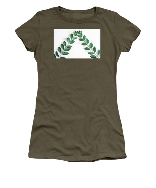Women's T-Shirt (Athletic Fit) featuring the photograph Minimal Green 2 by Andrea Anderegg